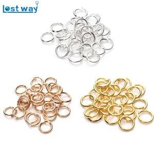 LOST WAY Open circle Stainless Steel Jump Rings Single Loops DIY Open Jump Rings & Split Rings For Jewelry Finding 200