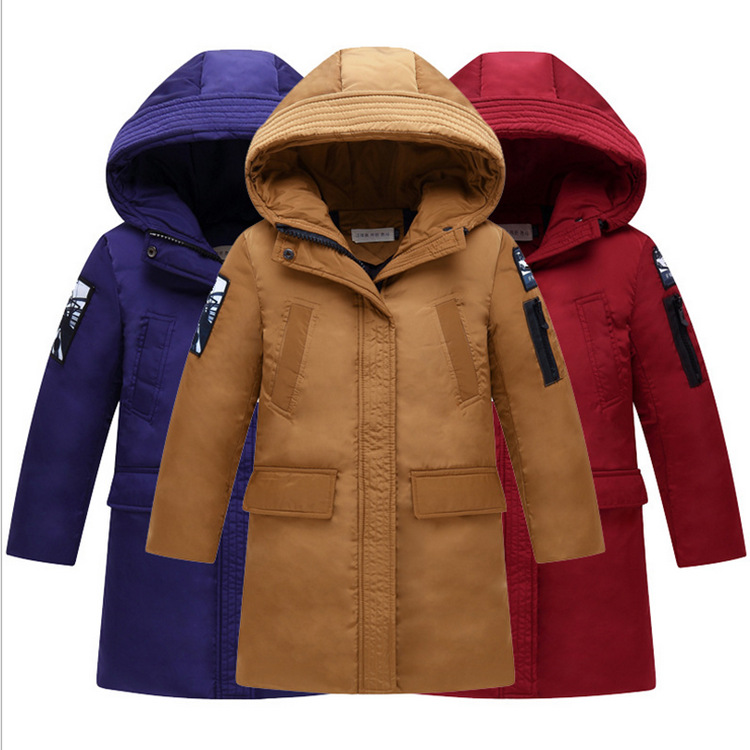 Boy 2017 new Korean thick down Jackets winter for size 6 7 8 9 10 11 12 13 14 years child long tide coat casual outerwear baby boy and girl 2017 new korean thick down jacket winter for size 1 2 3 4 years child long coat kid tide casual outerwear