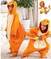 Crianças Onesies Charmander Pokemon Traje Pijama Cosplay Macacão Hoodies Pijamas para o Carnaval de Halloween