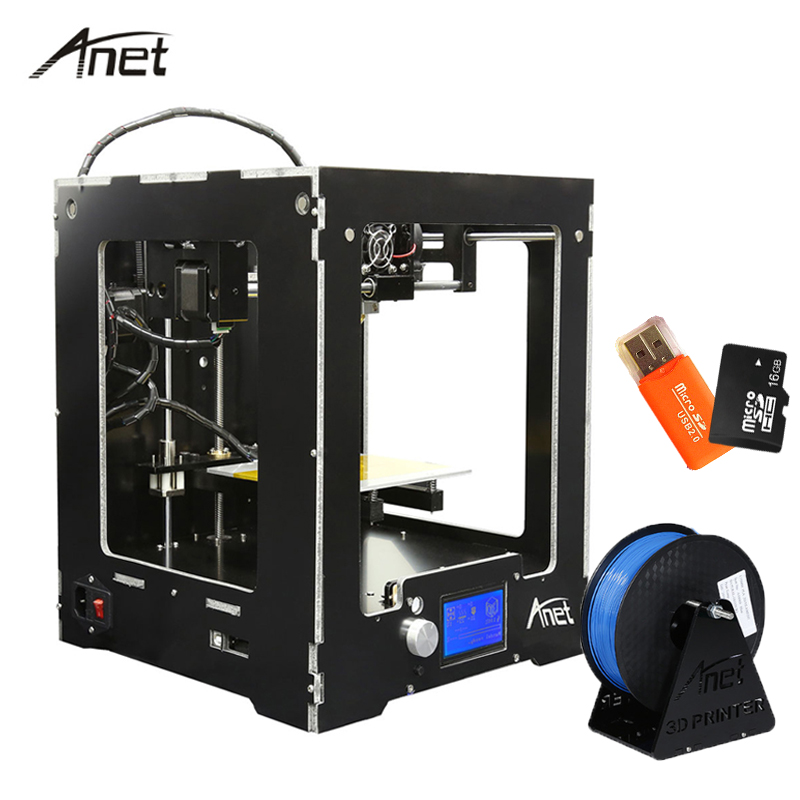 Anet A3-S High Precision 3D Printer Precision Reprap Prusa i3 DIY 3D Printer Kit Aluminum Hot bed with Filament 16GB SD Card 2017 new anet easy assemble 3d printer upgrated reprap prusa i3 3d printer large print size kit diy with filament 16gb sd card
