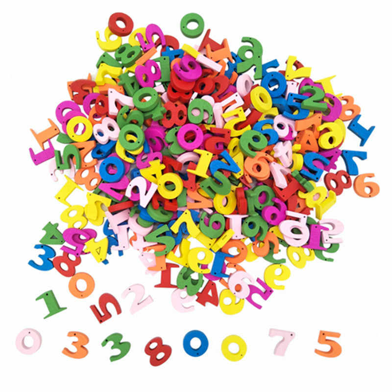 100Pcs Colorful Wooden Numbers Letters Math Toys Kids Montessori Materials Educational Toys for Children Developing Sensory Toy