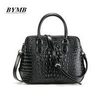 2018 Lady Handbags Fashion Women Single Shoulder Bag Women Crocodile Grain 100 Genuine Leather Women Messenger