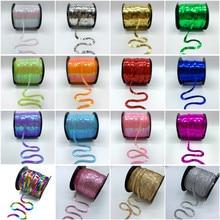 5 metre/Lot 6mm Renkli Gevşek Yuvarlak Düz Pul Lazer Giltter Paillettes Sequins Için El Sanatları Dikiş Kumaş Aksesuar pullu Trim