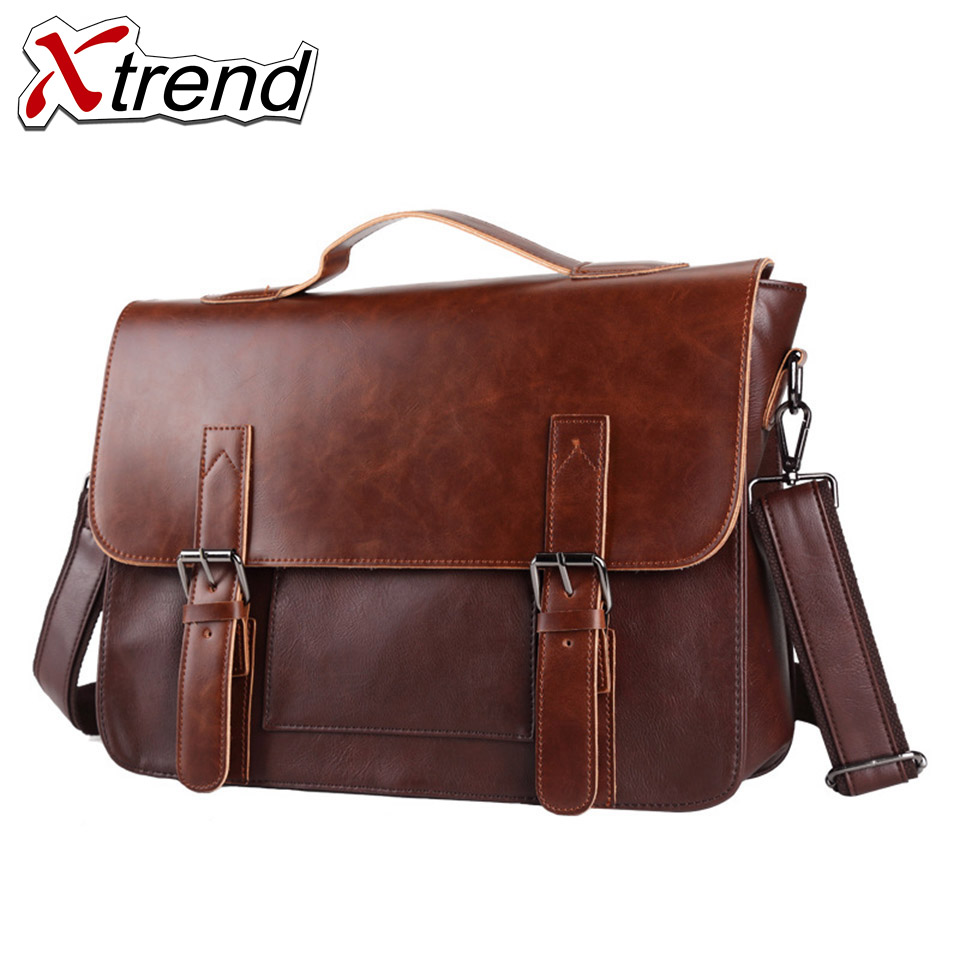 7855cbd46b 2018 Xtrend Brand Bolso Hombre Leather Bag Men Crossbody Bags Messenger  Men s Travel Shoulder Bags Solid