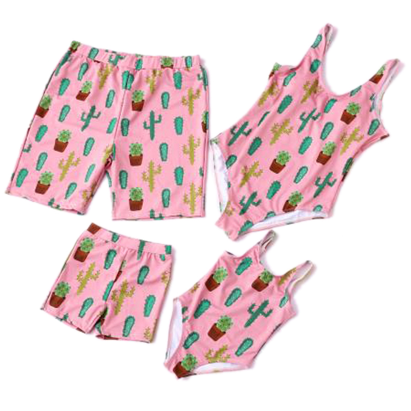 Family Matching Swimwear Family Look Mother Daughter Swimsuits Father Son Beach Shorts Mom Daughter Bikini Bathing Suit Set