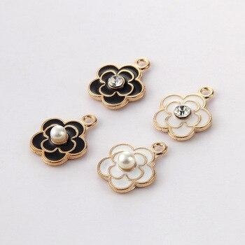 10 sztuk/partia hurtownie wysokiej jakości moda kobiety kwiaty urok Plum blossom Charms wisiorek dla naszyjnik biżuteria akcesoria