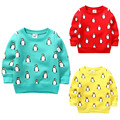 2017 Kids Thermal Sweater Blouse for Girls Fleece Lined Children's Clothing Cartoon Penguin Winter Clothes Sudaderas Ninos