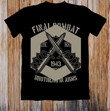FINALE di COMBATTIMENTO BROTHERS IN ARMS UNISEX T-SHIRT(China)