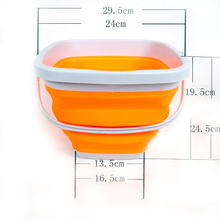 Vissen Outdoor Silicone Plastic Bucket 5L Folding Bucket Portable Camping Hiking Fishing Bucket Fishing Tackle Tool Randon Color