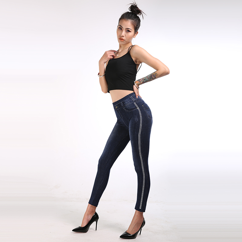 2019 New Sexy Leggings Elastic Waist Push Up Casual Fitness Leggings Women