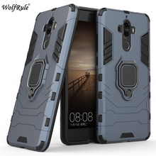 "WolfRule Huawei Mate 9 Case TPU Hard PC Huawei Mate 9 Case Ring Holder Stand Magnetic Armor Case Huawei Mate 9 Phone Funda 5.9""}"