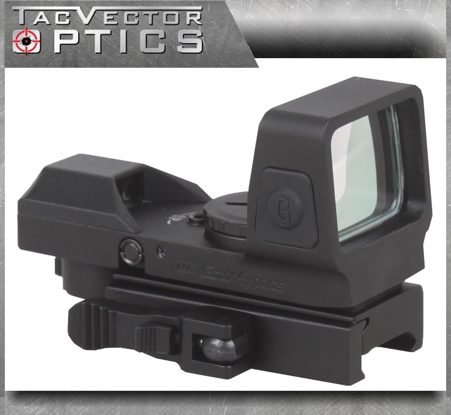 Vector Optics Sable 1x25x34 Tactical 4 Reticles Green Red Dot Sight Quick Release Digital Control Gun Scope QD Weaver Mount vector optics mini 1x20 tactical 3 moa red dot scope holographic sight with quick release mount fit for ak 47 7 62 ar 15 5 56