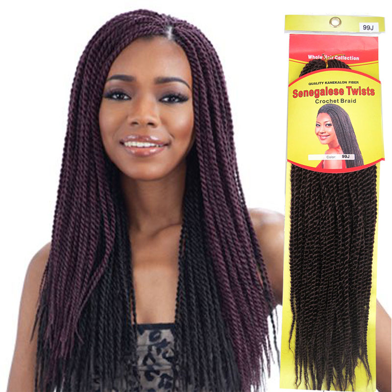 Senegalese Twist Hair 7pcs Lot Ombre Crochet Braiding Extension Twists For Full Head 36inch 95g Black Color Braids On Aliexpress Alibaba