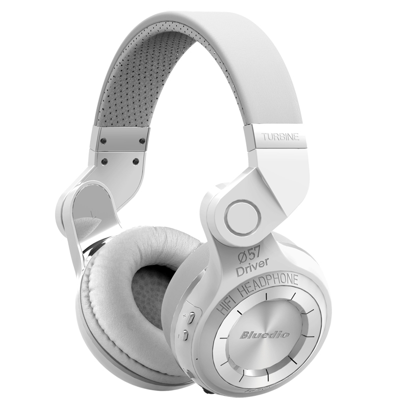 ФОТО Bluedio T2 Stereo Bluetooth Headphones Wireless Headset Hurrican Series Auriculares With MIC for phones fone de ouvido (White)