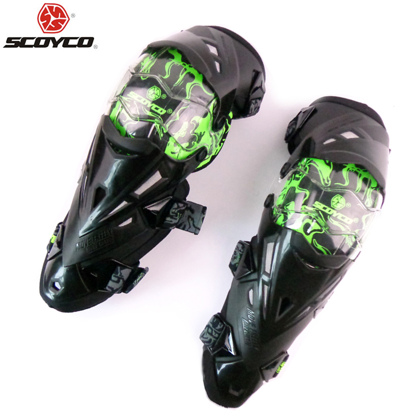 SCOYCO K12 Protective kneepad Motorcycle Knee pad Protector Sports Scooter Motor-Racing Guards Safety gears Race brace Наколенник