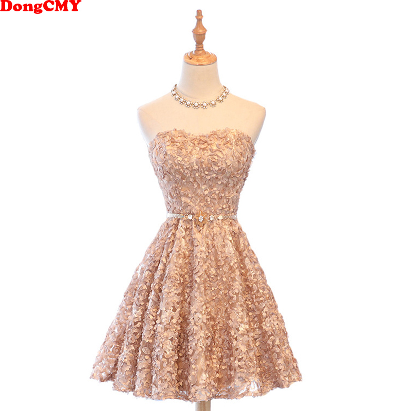 DongCMY New Short Sexy Cocktail Dressess Party Dinner Mini Sleeveless Prom Gown
