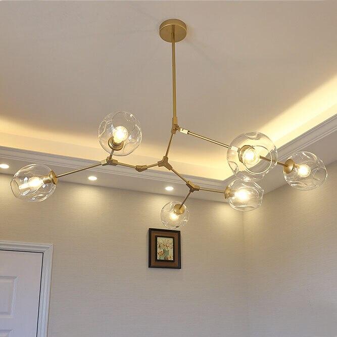 Ceiling Lights & Fans Chandeliers Modern Vintage Magic Led Pendant Light Hanging Light Sphere Ball Industrial Loft Iron Droplight Tree Classic Pendant Lamp