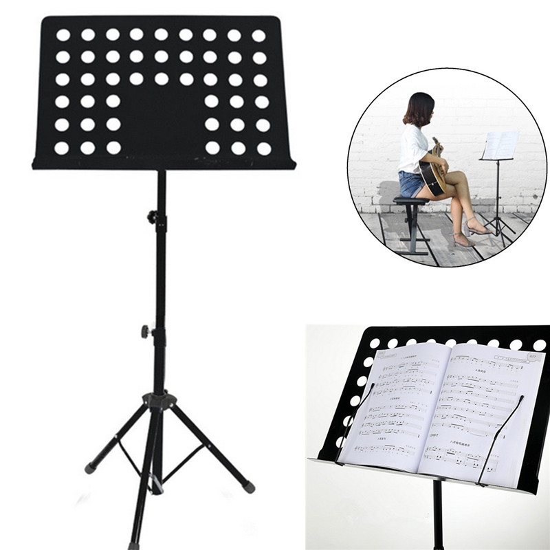 Zebra 80-165CM Metal Adjustable Music Stand Music Score Foldable Holder For Musical Instruments Part aluminium alloy professional fl 05r foldable small music stand musical instrument with double quilted carry bag 4 colors