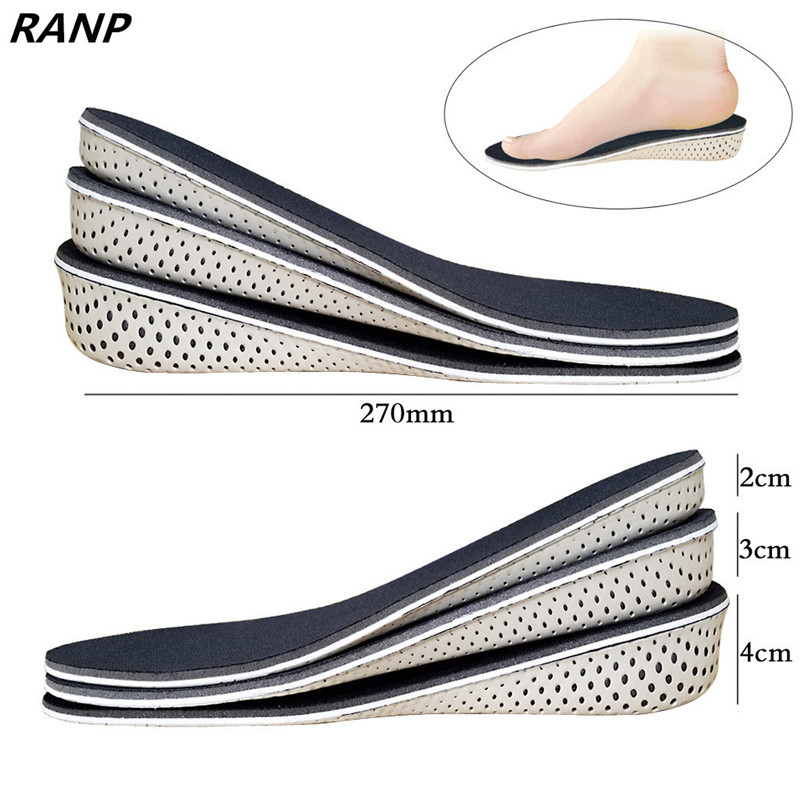 Height Increase Gel Memory Foam Insoles For Men/Women Up Arch Support 0rthopedic Shock Absorption Sports Foot Massage Sole Pads shoes pads memory foam support orthotic insoles arch