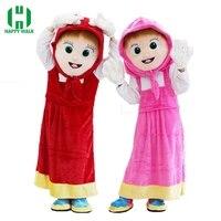 Masha Mascot Costume Cartoon Character Birthday Party Halloween Fancy Cosplay Costume Masha Performance Dress For Adult