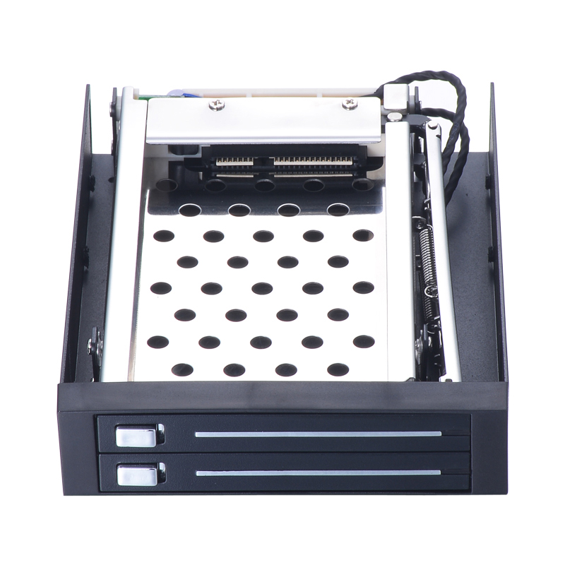 Dual bay 2 5 inch internal SATAIII 6Gbps hdd mobile rack with hot swap for 3