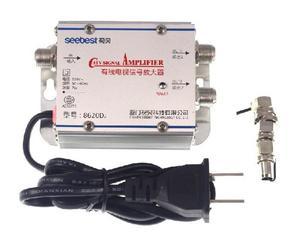 Image 3 - التيار المتناوب 220 فولت 2 طريقة CATV كابل التلفزيون مكبر صوت أحادي أمبير معزز هوائي الفاصل مجموعة النطاق العريض معدات التلفزيون المنزلي 45Mhz إلى 860MHz