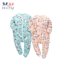 HHTU 2017 New Arrival Baby Boys Gilrs Cute Rompers Clothes Autumn Winter Infant Jumpsuits Newborn Cotton
