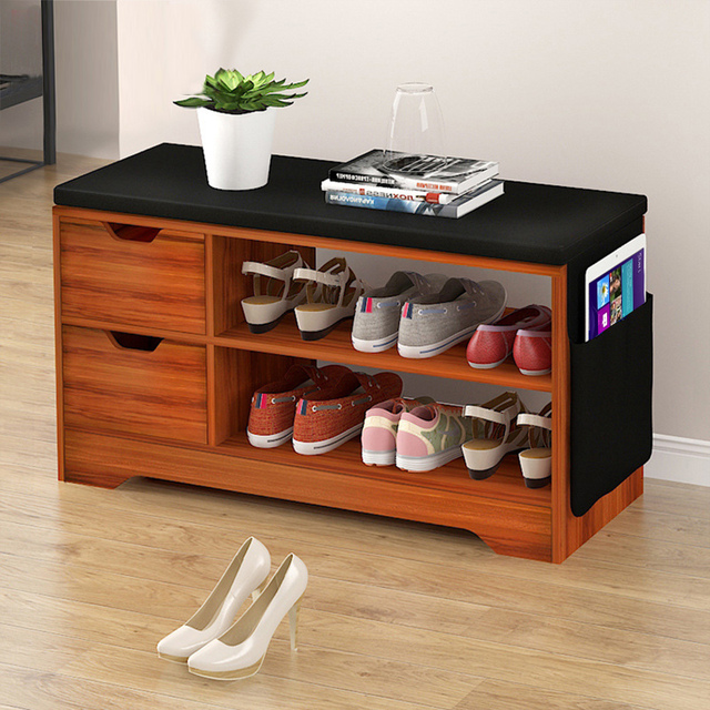Superieur Household Modern Shoes Storage Rack Stool With Padded Seat Living Room  Convenient Shoebox Cabinet Shoes Organizer Stand Shelf