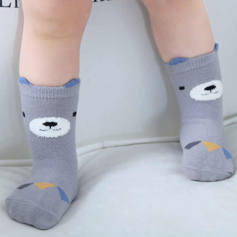 Otoño bebé calcetines de algodón con dibujos recién nacido bebé calcetines para niños niñas infantes niño antideslizante suelo desgaste niñas calcetines Meias Sokken