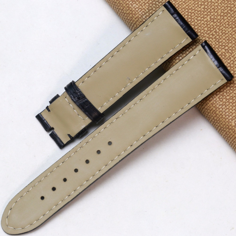 772a310eb75 Pesno Suitable for Montblanc Crocodile Leather Watch Strap 19mm Black  Alligator Skin Watch Strap Men Watch Accessories-in Watchbands from Watches  on ...