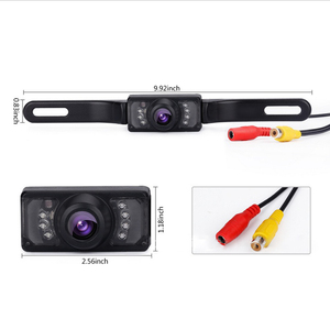Image 2 - TFT LCD Monitor Parking Camera 7 Night Vision LED Rearview Mirror Car DVR Professional Waterproof Auto Car Dash Parking Camera