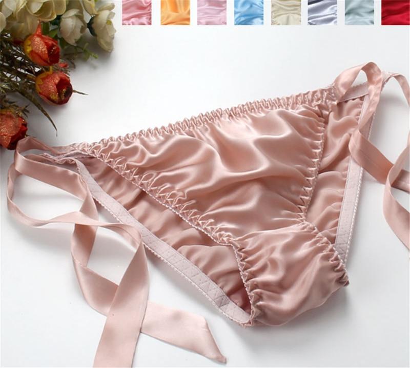 6d85747ad underwear women tangas women sexy string femme g string 100%silk seamless  panties sexy plus