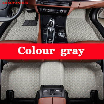 ZHAOYANHUA Custom fit car floor mats for Mitsubishi Lancer Galant ASX Pajero sport V73 V93 5D car styling all weather carpet image