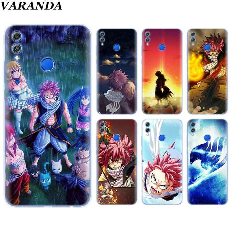 Fairy Tail Anime Soft TPU Cover Case Coque for Huawei Honor View 20 Y6 Y7 Y9 8X 8C 8S 8A 9 10 Lite 20i 2019 Silicone Case