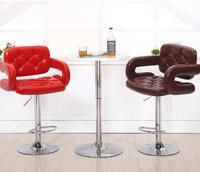 Sedia di un bar alla moda. stile europeo di altezza sedia. reception riceve sedia d'argento. conferenza sedia sgabello da bar