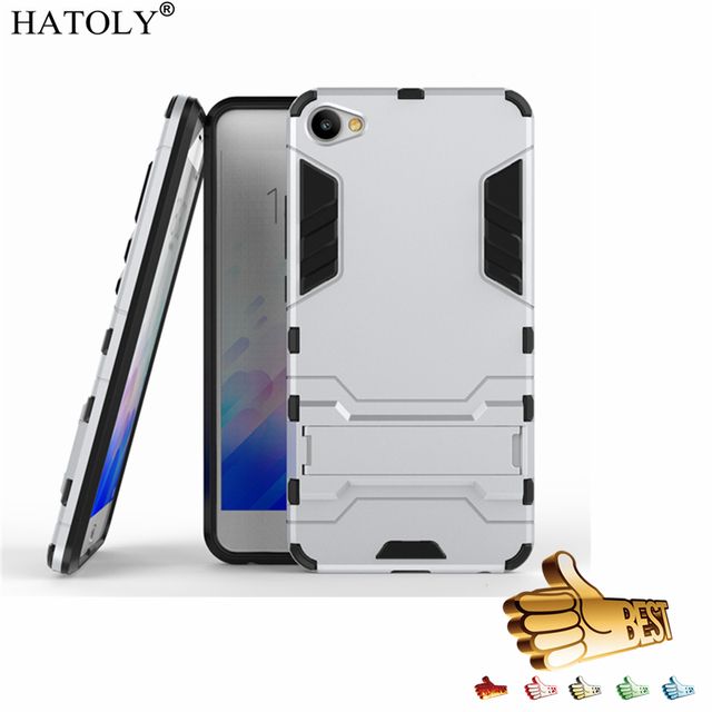 """HATOLY For Armor Case Meizu M3X Case Robot Hybrid Silicone Rubber Hard Back Phone Case Cover For Meizu M3X Fundas Meilan X 5.5"""""""