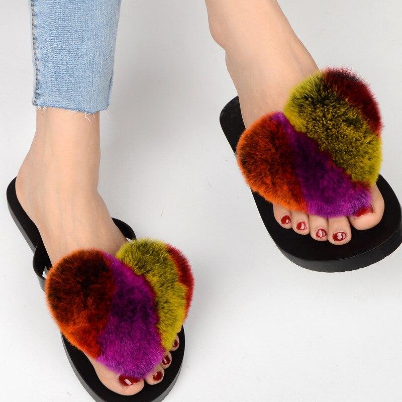 slipper real fur pompom (1)