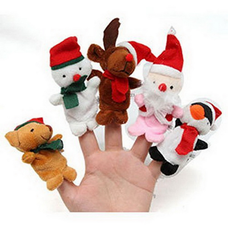 5PCS/Set Finger Puppet/Dolls/Toys Story-telling Props/Tools Toy Model Babies/Kids/Children Toys Christmas series