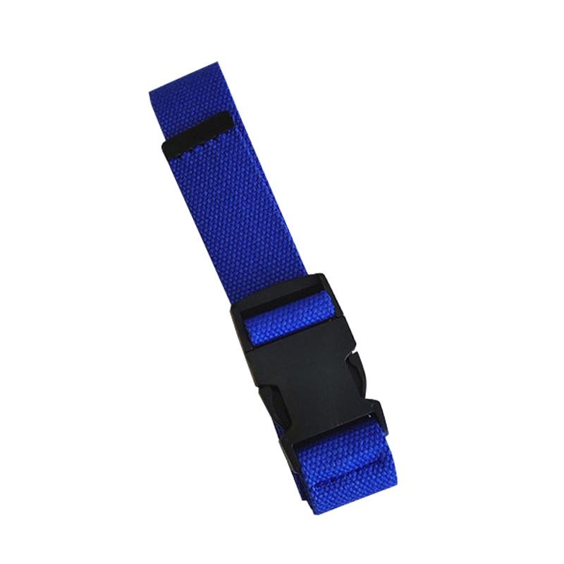 Adults Adjustable All-Match Belt Unisex Korean Style Canvas Belts Vintage Plastic Buckle Elastic Solid Color Long Waistband - Цвет: Синий