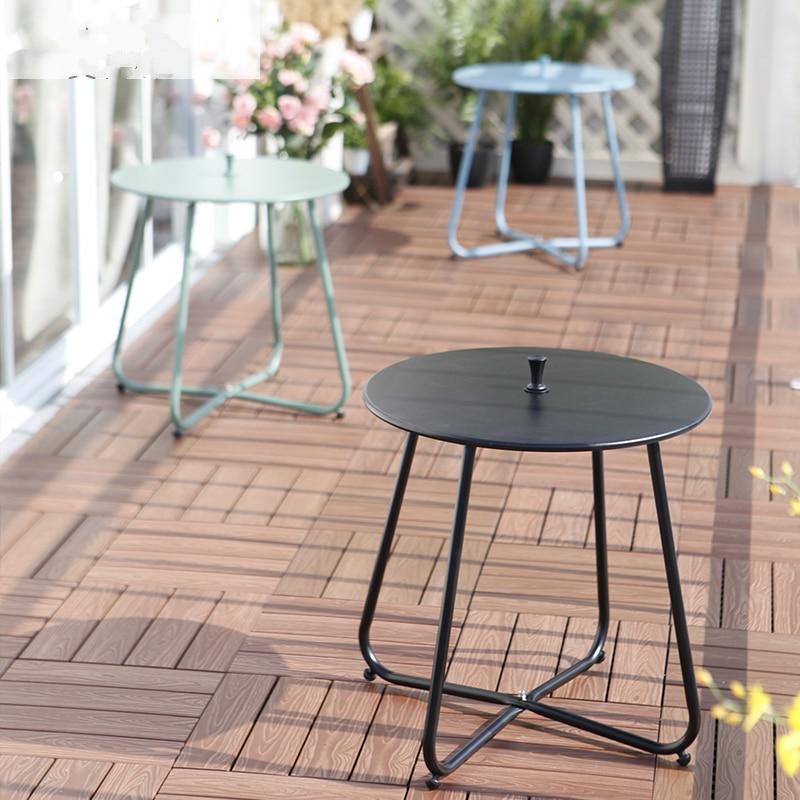 Modern Iron Leisure Coffee Table Small Round Table Corner Outdoor Balcony Tea Table simple tea table tea table balcony leisure small table
