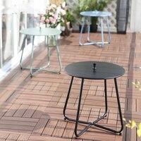 Modern Iron Leisure Coffee Table Small Round Table Corner Outdoor Balcony Tea Table