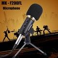 МК-F200FL Студийный Микрофон Аудио Звукозаписи Конденсаторный Микрофон Шок Держатель Клип Микрофон С Подставкой