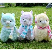 45cm Japan Alpaca Toy Giant Plush Toys Wearing Earflap Alpaca Plush Toys Kids Alpaca Christmas Gifts 5 Colors