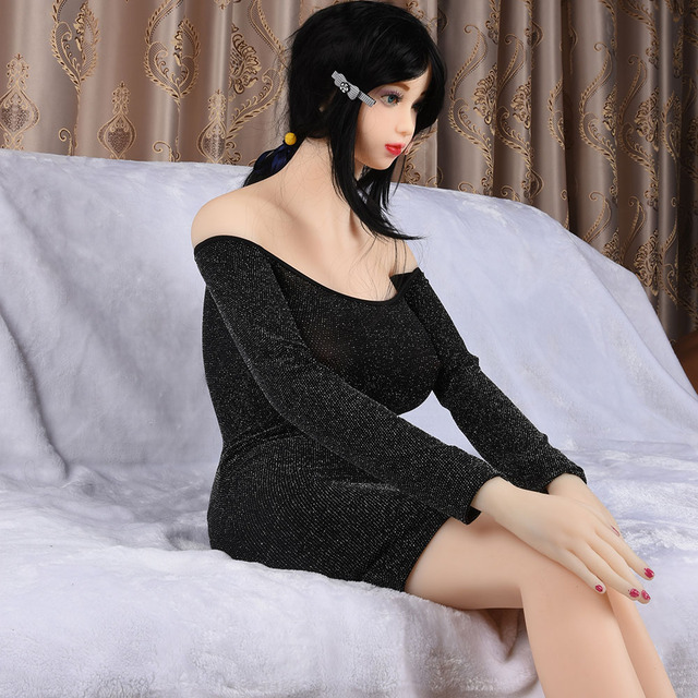 JUSE Silicone Sex Doll 32kg 158 cm Japanese lifelike love doll with skeleton , Oral Anal Vagina E Cup big breasts love doll