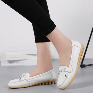 Image 5 - OZERSK Woman Flats Shoes Ballet Flat Sneakers Genuine Leather Summer Soft Moccasins Ladies Boat Ballerina Espadrilles Creepers