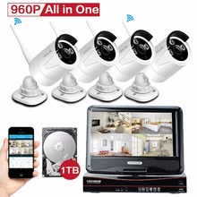 Yeskamo WIFI security camera system with 960P ip wifi camera and 10″ LCD Monitor Built in 1TB Hard Drive