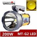 Warsun 200 w portátil de Alta potência lanterna recarregável à prova d' água Holofote lâmpada de Mesa luz lateral EUA/UE carregador de bateria Embutida