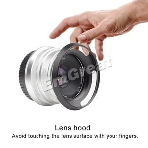 Image 3 - 7 Nghệ Nhân Camera Lens Hood 46 Mm Kim Loại Có Lỗ Thông Hơi Lens Hood Cho 7 Nghệ Nhân 25 Mm F1.8 Cho Sony Dành Cho leica Canon Nikon Đen