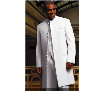 Fashionable new men's suit white stand-alone banquet men's prom dress and groom wedding dress (jacket + pants + vest) custom