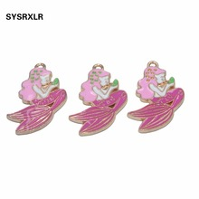 10 Pcs Mermaid Pendant Charm DIY Necklace Bracelet Earrings Accessory  For Jewelry Making Wedding Birtday Party Decor Gift